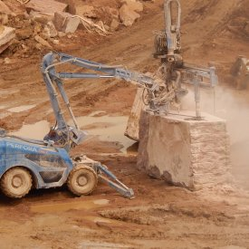 Extraction of granite